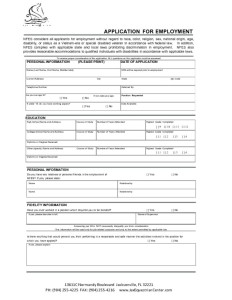 thumbnail of Employment Application